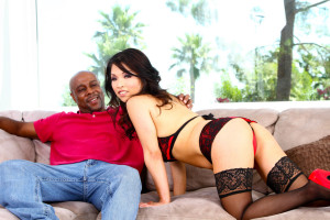 Mia Rider interracial tease